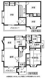[一戸建] 福岡県古賀市舞の里2丁目 の賃貸【/】の間取り