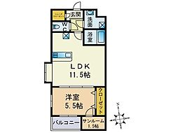 福岡県福岡市西区西都2丁目の賃貸マンションの間取り