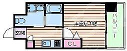 LiveCasa上新庄 6階1Kの間取り
