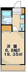 東京都八王子市長沼町の賃貸マンションの間取り