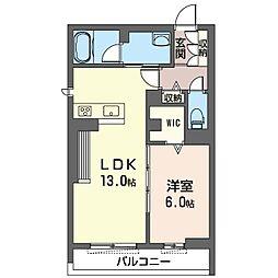 仮称 さいたま市浦和区上木崎2丁目シャーメゾン 1階1LDKの間取り