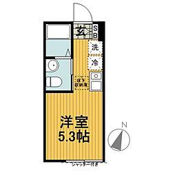 ランド横浜ウエスト[103号室]の間取り