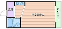 フレンドリー本庄[6階]の間取り