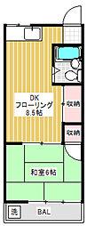 荻野コーポ[1階]の間取り