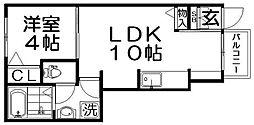 ユーアイ・ハイツ池田II[1階]の間取り