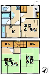 [一戸建] 東京都多摩市乞田 の賃貸【/】の間取り