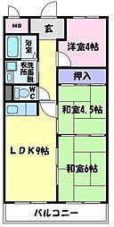 サルドセジュール[3階]の間取り