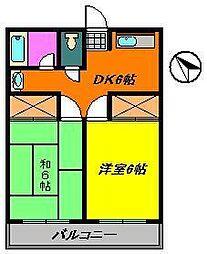 ハイツ竹沢[2階]の間取り