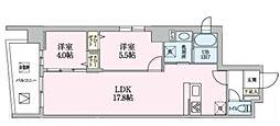 Luce 4階2LDKの間取り
