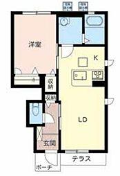 ラ・フルール3[1階]の間取り
