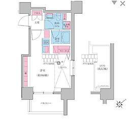 東急池上線 雪が谷大塚駅 徒歩3分の賃貸マンション 2階ワンルームの間取り