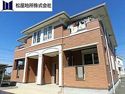 愛知県豊橋市下地町字柳目の賃貸アパートの外観