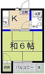 マイルーム参道A棟[105号室]の間取り
