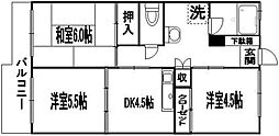 大産桜坂マンション[305号室]の間取り