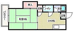 秋山コーポ[202号室]の間取り