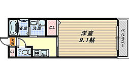 プラージュ堺[2階]の間取り