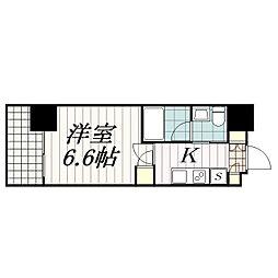 千葉県千葉市中央区中央港1丁目の賃貸マンションの間取り