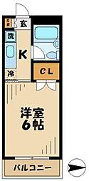ニューハイム井上[2階]の間取り
