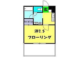 ディアコート横浜[1階]の間取り