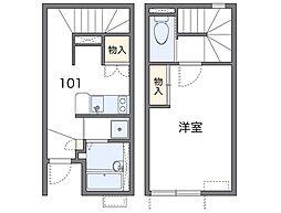愛知県豊田市青木町5丁目の賃貸アパートの間取り