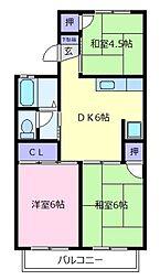 セジュールナカノ[2階]の間取り