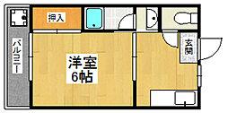 ヴィラ黒門[2階]の間取り