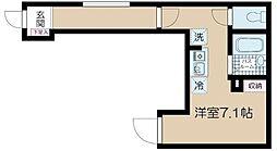 JR中央線 高円寺駅 徒歩10分の賃貸アパート 3階ワンルームの間取り