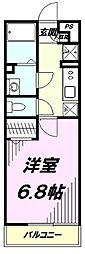 東京都八王子市千人町2丁目の賃貸アパートの間取り