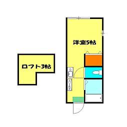 アクア和田[103号室]の間取り
