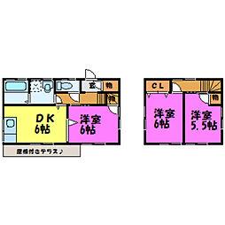 [一戸建] 栃木県小山市西城南3丁目 の賃貸【/】の間取り