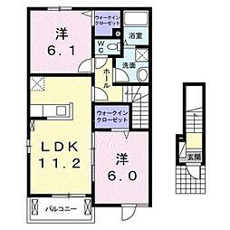 カーサ エスペランツァ II[2階]の間取り