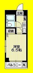 JR中央線 阿佐ヶ谷駅 徒歩11分の賃貸マンション 3階1Kの間取り