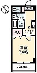 岡山県倉敷市昭和1丁目の賃貸マンションの間取り
