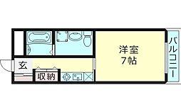 SK都島北通 6階1Kの間取り