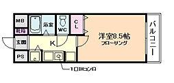 M&Mウメダイースト[2階]の間取り