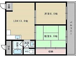 サンロイヤル柴島パート2[4階]の間取り