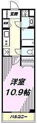 JR八高線 北八王子駅 徒歩11分の賃貸マンション 5階1Kの間取り