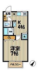 Raffine Kasama[202号室]の間取り