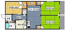 第二松尾ビル[106号室]の間取り