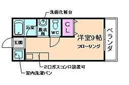 エステート山田[201号室]の間取り