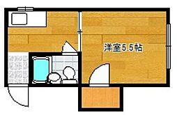 原田コーポ[201号室]の間取り