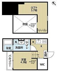 JOELLE南平野(ジョエルミナミヒラノ)[1階]の間取り