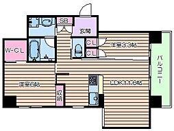Lega梅北[5階]の間取り