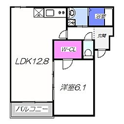 仮称・フジパレス堺市西区鳳南町 2階1LDKの間取り