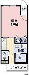 近鉄山田線 宇治山田駅 5.3kmの賃貸アパート 2階1Kの間取り