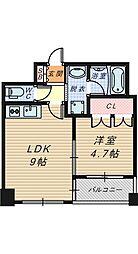 リヴクレール鴫野[602号室]の間取り