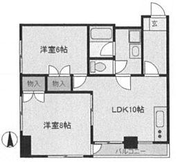 ふじコーポ浅草[2階]の間取り