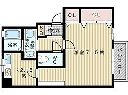 クレテ豊里[2階]の間取り