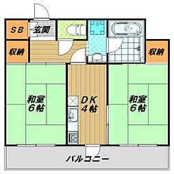 フェニックスハイツ魚住[2階]の間取り