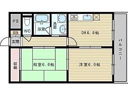 テラート2[5階]の間取り